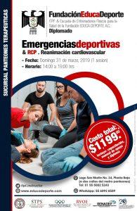 DIPLOMADO Emergencias Deportivas & RCP .Reanimación Cardiovascular @ Panteones Terapéuticas