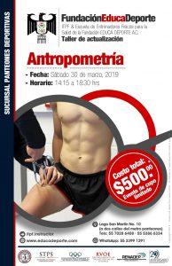 TALLER Antropometría @ Panteones Deportivas